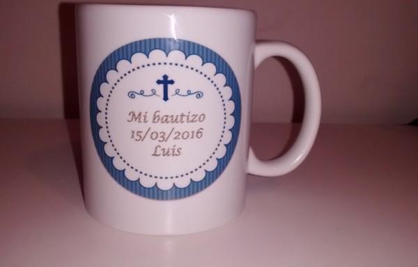 """Taza sublimada de cerámica """"Mi Bautizo"""""""