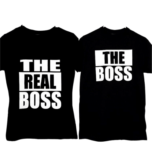 "Playeras personalizadas ""The Boss"" ""The Real Boss"""